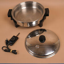 Saladmaster 7256 Stainless Steel Electric Skillet w Lid + Replacement Cord