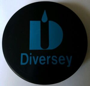 STICKER LOGO! DIVERSEY VINTAGE OFFICIAL HOCKEY PUCK MADE IN CZECHOSLOVAKIA RARE