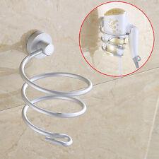 Bathroom Wall Mount Hair Dryer Holder Stand Rack Storage Organizer Straighteners
