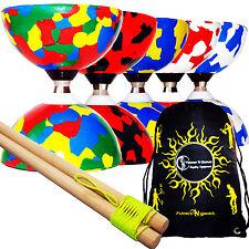 JESTER Ball Bearing Diabolos Set + Wooden Diabolo Handsticks, Diablo String +Bag