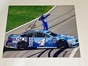 Kevin Harvick KANSAS 2018 NASCAR BUSCH LIGHT VICTORY FLEX 8x10 autographed photo