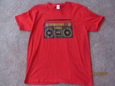 Men's Retro Boombox Graphic MTV T-shirt 80's Size XL Vintage Music Hip Hop Rock