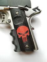 OTA 1911 Punisher Finger Grips Black and Red Colt