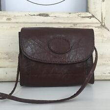 RUSTIC Vintage Genuine LEATHER Handbag CROSS BODY Purse Brown BOHO Hippy
