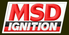 """MSD IGNITION EMBROIDERED PATCH ~3-1/4"""" x 1-3/4"""" HOT ROD SPARK TECHNOLOGY RACING"""