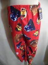 Angry Birds Star Wars Pajama Bottoms Boy M Red Polyester Elastic Waist Rovio NWT