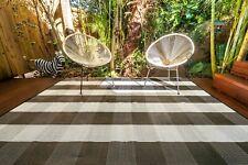 200x270cm Outdoor/Indoor Plastic Rug/Mat CHECKMATE BLACK AND WHITE Waterproof