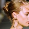 Simple Women Circle Round Ear Studs Earring Minimalist gold earrings Jewelry