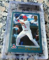 ALBERT PUJOLS 2001 Topps Rookie Card RC BGS 9 9.5 Cardinals 2 WS Rings 662 HRs $