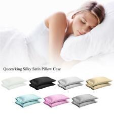 Multi Color Silk Satin Standard Pillow Case Cushion Cover Pillowcase Home Decor