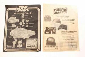 Vintage 1977 Star Wars Millennium Falcon Model Kit Instructions & Cap Offer Pape