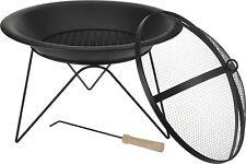 51cm Metal Fire Bowl Garden Fire Pit Basket Patio Heater Log Burner Brazier