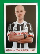CYCLISME carte cycliste JOHANNES FROHLINGER équipe SUNWEB 2018
