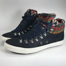 Aldo High Top Sneakers Size 13 Mens Bickleman Navy Blue Red Green Tapestry