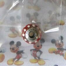 Pandora Disney Exclusive Minnie Mouse Red Polka Dot Murano Glass Bead NEW!