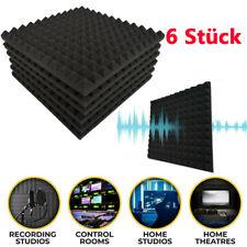 6 x Pyramiden Akustikschaum Schalldämmung Schaumstoff Schallschutz Selbstklebend