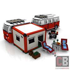 BAUANLEITUNG Eigenbau PDF Camping Vorzelt Grill für LEGO® Steine zB VW T1 10220