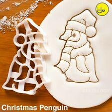 Christmas Baby Penguin cookie cutter - Cute Antarctica Animal Xmas winter arctic