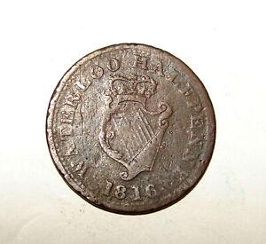 1816 LOWER CANADA WELLINGTON WATERLOO HALF PENNY TOKEN COIN