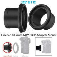 Aluminum Alloy 1.25 inch T2 Ring Telescope Camera  Adapter Mount for DSLR Camera