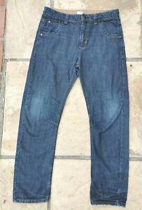 Age 12-13 Years Boys Blue Straight Leg Jeans Adjustable Waist F&F
