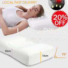 100% Natural Latex Soft Comfort Standard Pillow Supportive - 60*40*14/10/14CM