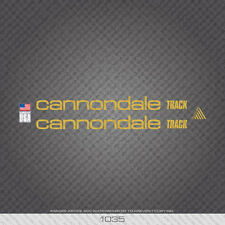 01035 Cannondale Track Bicycle Stickers - Decals - Transfers - Gold