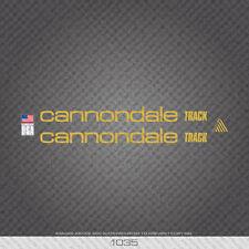 01035 Adesivi Bicicletta Cannondale Track-Decalcomanie-Trasferimento-Oro