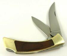 "Browning DOUBLE Lockback Knife Wood Handles 3-3/8"" Closed USA 3995-OX"
