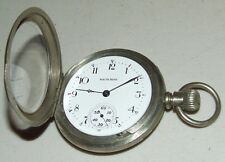 Antique Working 1904 SOUTH BEND 15J Nickel Silver Railroad RR Pocket Watch 18s