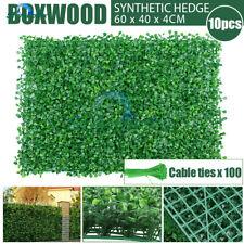10x Artificial Green Wall Boxwood Hedge Fake Vertical Garden Ivy Mat Fence