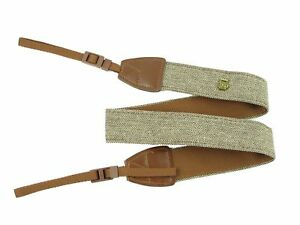 Generic Cotton Leather Camera Shoulder Neck Strap For Nikon Canon Sony Brown