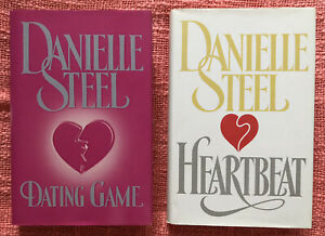 Danielle Steel - Dating Game & Heartbeat - Hardcover Books