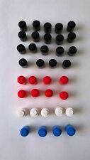 Lego VINTAGE Blocks x 36 1950's / 1960's Black, White, Red & Blue
