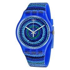 Swatch Centrino Multi-Shaded Blue Dial Multi-Shade Blue Plastic Unisex Watch