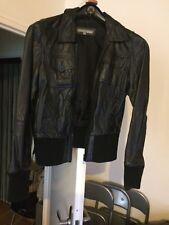 6029a5b0e355b Manteaux et vestes noirs en cuir pour femme taille 38   eBay