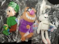 Complete New Set 7 General Mills Breakfast Babies Plush Beanie Pals Sealed 1997