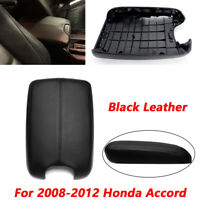 Armrest Center Console Lid Cover Black Leather w/Base For 2008-2012 Honda Accord