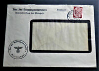 1941 W.W.2 ORIGINAL GERMAN 3rdREICH ERA COVER GG DIENSTPOST STAMPED