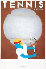 Original Vintage Poster Razzia Tennis Ball Slazenger Bjorn Borg