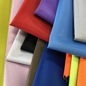 """Canvas Water-Repellant Fabric Reverse Side Pu Soft Coated 59"""" Width 10+ Colours"""