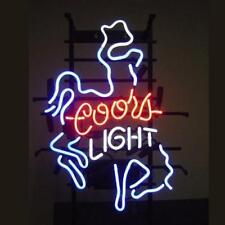 "New Coors Light Cowboy Man Cave Bar Beer Neon Sign 17""x14"""