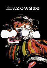 Arte cartel Mazowsze Polaco Polonia danza de impresión