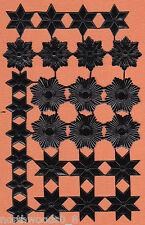 STAR CELESTIAL ASSORTMENT BLACK HALO FOIL PAPER EMBOSSED DRESDEN GERMAN ART