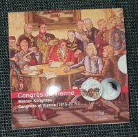 5 Euro Gedenkmünze Luxemburg 2015 Niob - Wiener Kongress / Folder / PP  Blister