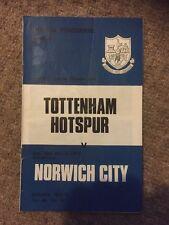 10th 1973 10/03/73 de marzo Tottenham H. v Norwich City programa White Hart Lane