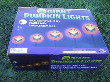 NEW 5 Giant Pumpkin Halloween JOL  Pathway stakes blow mold  C7 lights bulbs