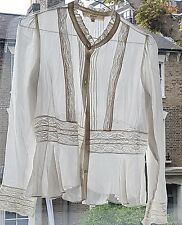 VANESSA BRUNO chemise blanche dentelle taille 1 S Collection Athe PARIS RP £ 220+ worn TWIC