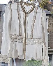 vanessa bruno white shirt lace size 1 S Athe collection Paris RP £220+ worn twic