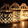 Metal Birdcage Lantern Tea Light Candle Holder Garden Wedding Hanging Decor